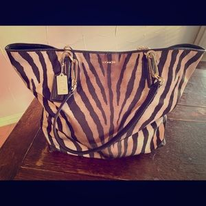 Coach Purse, Tiger Striped with Duster